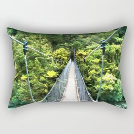 Is this your real path? The Bridge in Wild Rainforest Rectangular Pillow