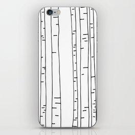 Minimal birches iPhone Skin