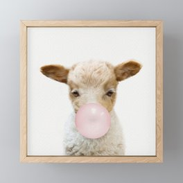 Bubble Gum Baby Lamb Framed Mini Art Print