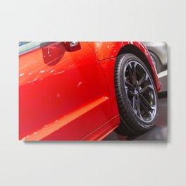 Peugeot RCZ Red Door Metal Print