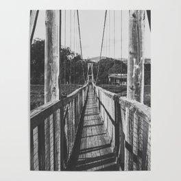 Black and White Bridge - Kauai, Hawaii Poster