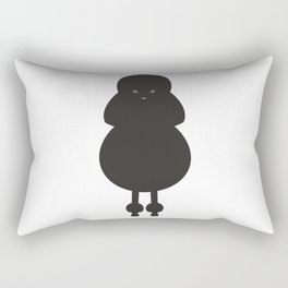 Minimalist, Black Poodle, Black Design, Silhouette Rectangular Pillow