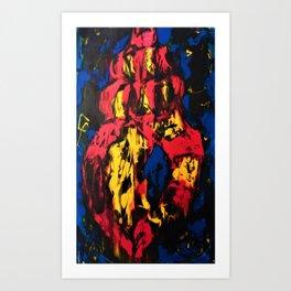 Sea Shell Screen Print Art Print