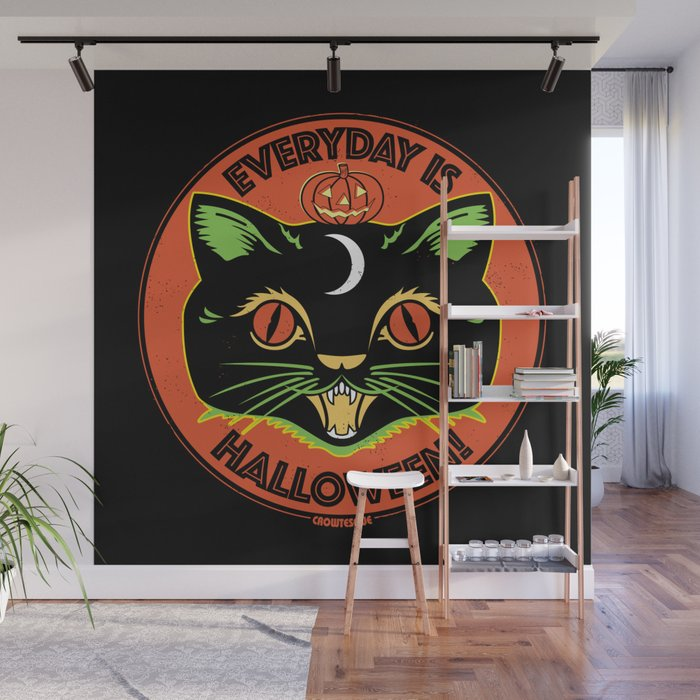 Everyday is Halloween Wall Mural by crowtesque Society6