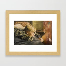 golden bed Framed Art Print