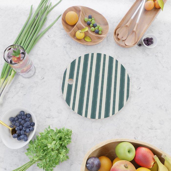 striped bouclé Cutting Board