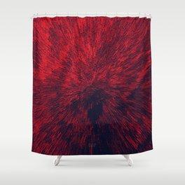 Bold Burst in Brilliant Red Shower Curtain