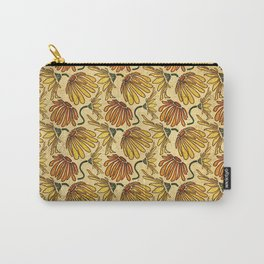 Retro 70's Golden Yellow Daisy Pattern  Carry-All Pouch