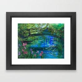 Bridge over peaceful waters Framed Art Print