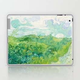 Green Wheat Fields - Auvers, by Vincent van Gogh Laptop & iPad Skin