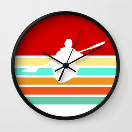 Kayak Vintage Kayaking Retro Gift Wall Clock