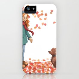 Just a two of us (autumn) iPhone Case