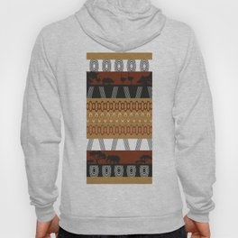 African Tribal Pattern No. 107 Hoody