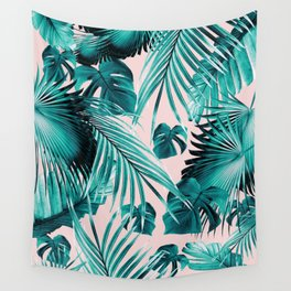 Tropical Jungle Leaves Dream #4 #tropical #decor #art #society6 Wall Tapestry