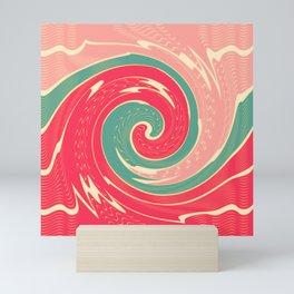 Big red wave Mini Art Print
