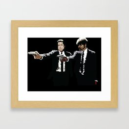 Pulp Fiction Pixelated Framed Art Print