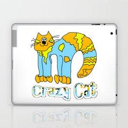 Crazy Cat Orange Laptop & iPad Skin