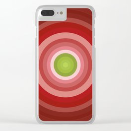 Beetroot Pink Circles Clear iPhone Case