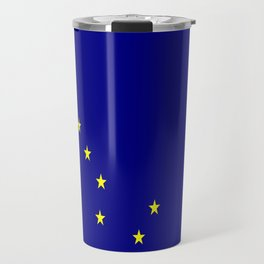 flag of alaska,america,usa,ice, north,Midnight Sun,Alaskan,Anchorage,Fairbanks,Juneau Travel Mug