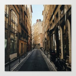 Streets of Old Lyon Canvas Print