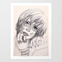 Sugar Skull Girl 2 Art Print