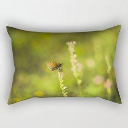 Butterfly on a wild flower Rectangular Pillow