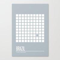 brazil Canvas Prints featuring Brazil by Supereye