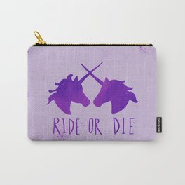 Ride or Die x Unicorns x Purple Carry-All Pouch