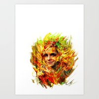 emma watson Art Prints featuring Emma Watson by ururuty