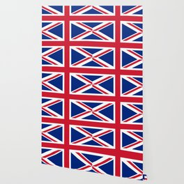 Union Jack, Authentic color and scale 1:2 Wallpaper