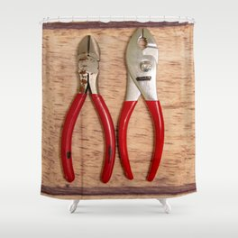 Red Handles Shower Curtain