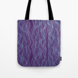 Blue threads Tote Bag