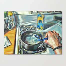 Complacency, Stove Canvas Print