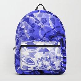 Morocco Oriental Flower Mosaic Gerber blue Backpack