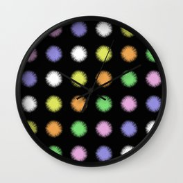 Rainbow Fuzz Wall Clock