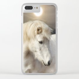 Moonlight Horse Clear iPhone Case