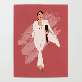 AOC in White Poster