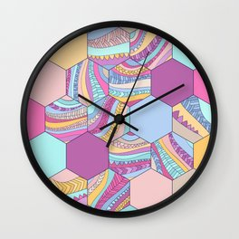 BRAIDSHEXSUMMER Wall Clock