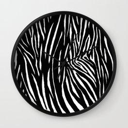 Zebra Galloping at Sunset Wall Clock
