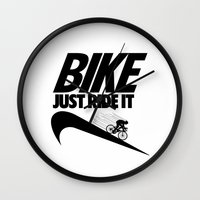 Just Ride It Wall Clock