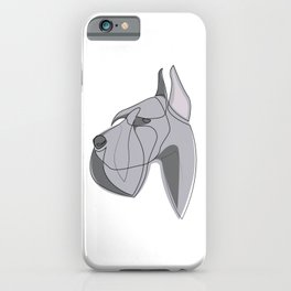 Giant Schnauzer - one line drawing iPhone Case