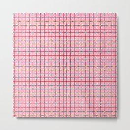 Bubblegum and Confetti Pattern Metal Print
