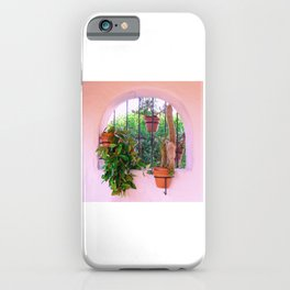 Potted Plants Behind Bars on Porch iPhone Case