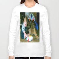 german shepherd Long Sleeve T-shirts featuring German Shepherd Spit Shine by GermanShepherdCrazy
