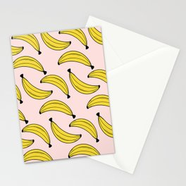 Cute Banana Pattern Pink Stationery Cards