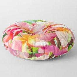 Pua Melia ke Aloha Maui Floor Pillow