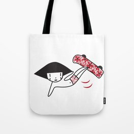 Spirit Dude Skateboarding Tote Bag