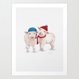 Winter Lambs Art Print