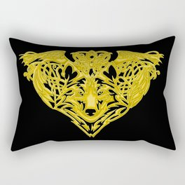 Wolf Raven Rectangular Pillow
