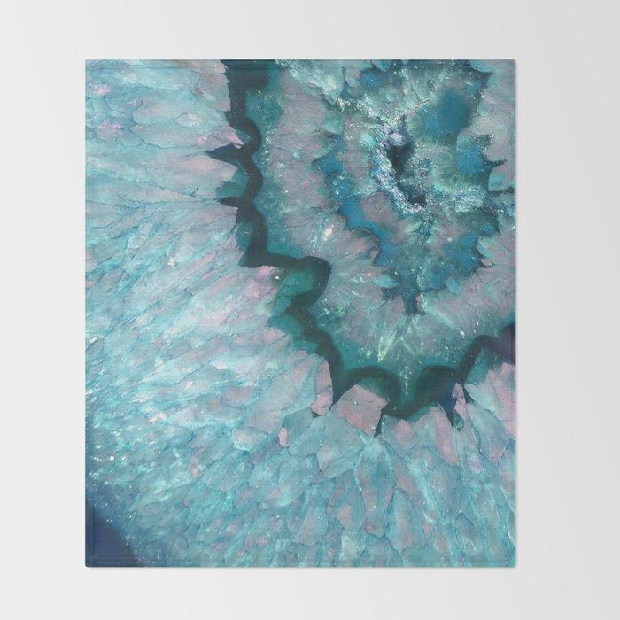 Teal Crystal Throw Blanket